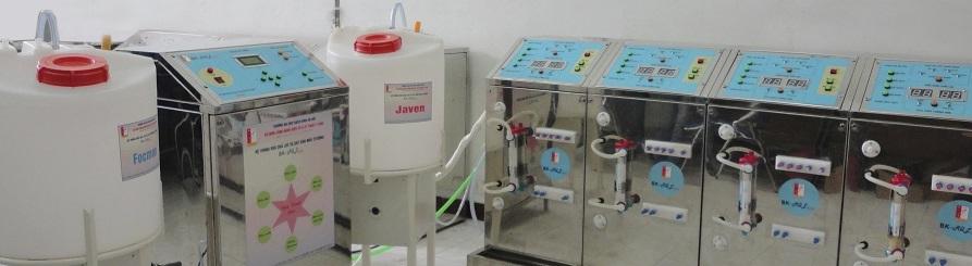 Hệ thống thiết bị rửa quả lọc và dây dẫn máu để tái sử dụng trong thận nhân tạo BK-RQL