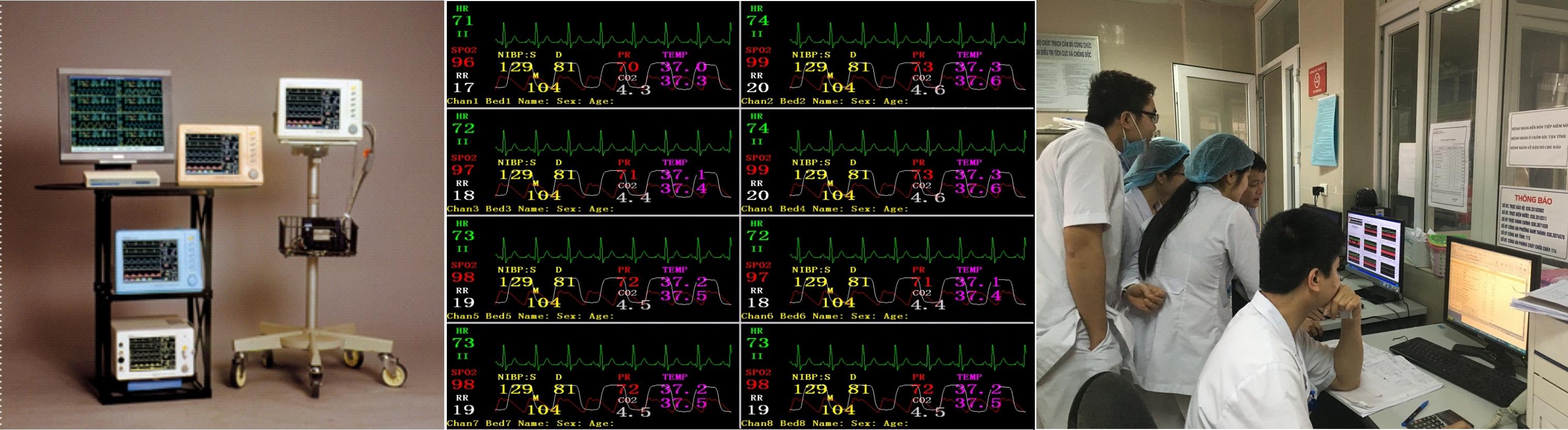 Hệ thống theo dõi bệnh nhân trung tâm BK-BCE